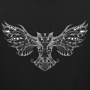 Owl white T-Shirts - Men's Premium Tank
