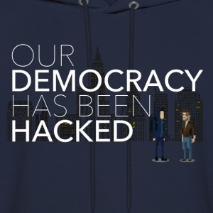 NEW Mr Robot Hacked democracy quote T-Shirts - Men's Hoodie