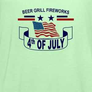 beer_grill_fireworks_happy_4th_july_tshi - Women's Flowy Tank Top by Bella