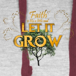 Faith - Let it grow! Baby Bodysuits - Colorblock Hoodie