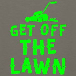 get off the lawn with lawn mower Baby Bodysuits - Men's Premium Long Sleeve T-Shirt