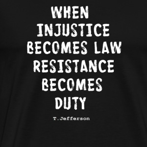 RESISTANCE BECOMES DUTY Hoodies - Men's Premium T-Shirt