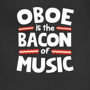 Oboe The Bacon of Music Funny T-Shirt T-Shirts - Adjustable Apron