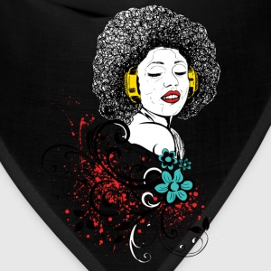 Woman in Afro and headphones - Bandana