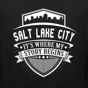 Salt Lake City This Is Where My Story Begins T-Shi T-Shirts - Men's Premium Tank