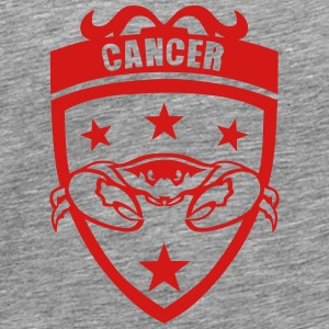 sign cancer pinch logo Long Sleeve Shirts - Men's Premium T-Shirt