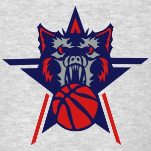 basketball werewolf wolf logo sports Long Sleeve Shirts - Men's T-Shirt