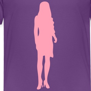 woman silhouette shadow Kids' Shirts - Toddler Premium T-Shirt