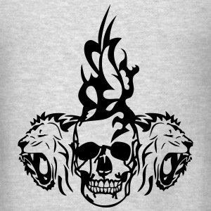 skull dead tribal lion Long Sleeve Shirts - Men's T-Shirt