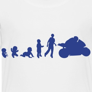 evolution human race motorcycle Kids' Shirts - Toddler Premium T-Shirt