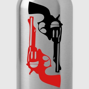 gun pistol revolver firearm 1 T-Shirts - Water Bottle