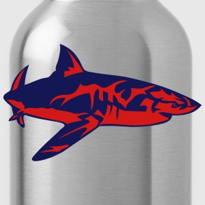 shark drawing fish hai 8022 T-Shirts - Water Bottle