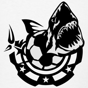 shark logo soccer club drawing fish 802 Tanks - Men's T-Shirt