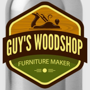 Guys Woodshop T Shirt - Water Bottle