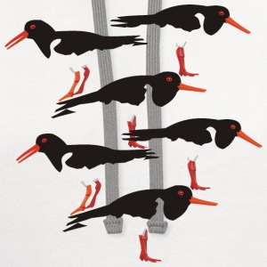 Oystercatcher group - Contrast Hoodie