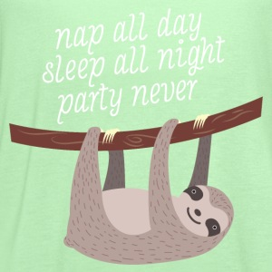 Nap All Day - Sleep All Night - Party Never T-Shirts - Women's Flowy Tank Top by Bella