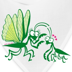 Praying mantises dangerously falling in love Mugs & Drinkware - Bandana