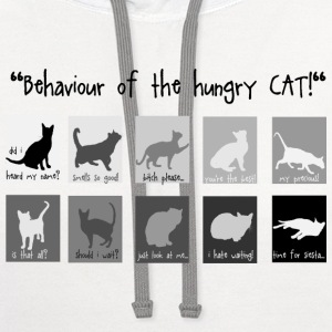 behaviour of the hungry CAT T-Shirts - Contrast Hoodie