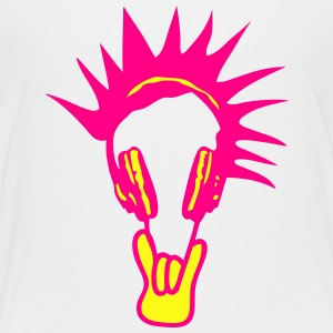 headphones punk symbol kopfhorer Kids' Shirts - Toddler Premium T-Shirt