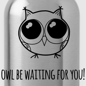 Owl be waiting for you! - farewell gift - Water Bottle