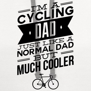 I'm A Cycling Dad... T-Shirts - Contrast Hoodie