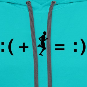Running Makes You Happy T-Shirts - Contrast Hoodie