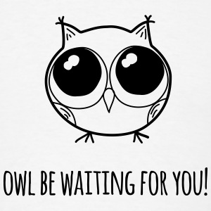 Owl be waiting for you! - badges - Men's T-Shirt
