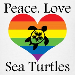 Peace. Love. Sea Turtles - Men's T-Shirt