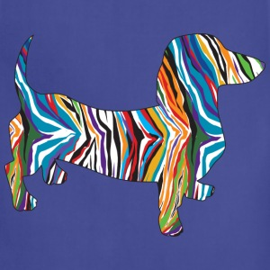 Doxie in a Pschedelic Zebra Print - Adjustable Apron