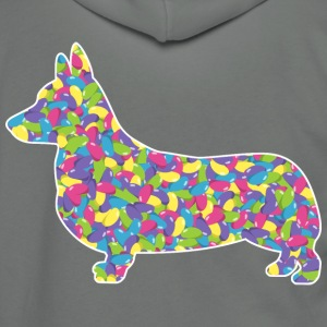 Corgi, Easter Jellybeans - Unisex Fleece Zip Hoodie by American Apparel