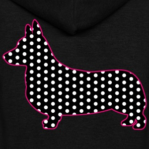 Polka Dot Corgi - Unisex Fleece Zip Hoodie by American Apparel