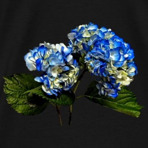 Two Blue Hydrangea With Leaves Bags & backpacks - Men's Premium T-Shirt
