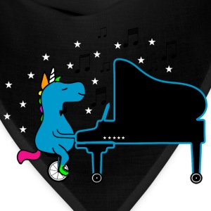 Unicycling Piano Playing UNICORN :) T-Shirts - Bandana