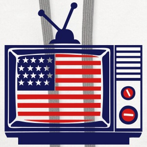 american television flag united states Tanks - Contrast Hoodie