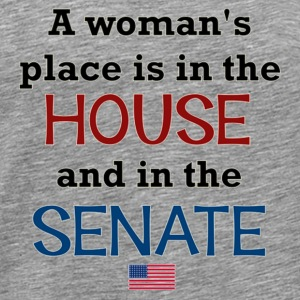 A Woman's place is in the House & Senate - Men's Premium T-Shirt