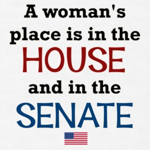 A Woman's place is in the House & Senate - Men's T-Shirt