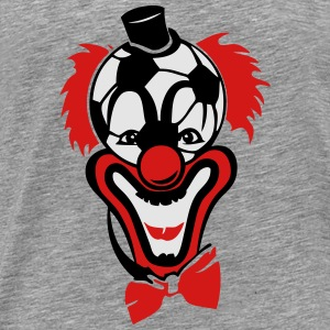 clown nose red soccer ball bow Long Sleeve Shirts - Men's Premium T-Shirt