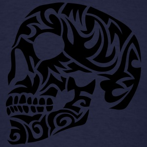 tribal skull dead head 7 Long Sleeve Shirts - Men's T-Shirt