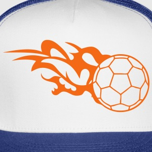 flame handball ball logo 3 T-Shirts - Trucker Cap