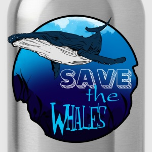 Save the whales - Water Bottle