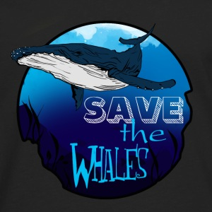 Save the whales - Men's Premium Long Sleeve T-Shirt