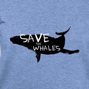 Save the whales - Women's Wideneck Sweatshirt