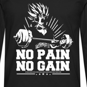 Dragon ball fan - No pain no gain - Men's Premium Long Sleeve T-Shirt