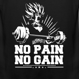 Dragon ball fan - No pain no gain - Men's Premium Tank