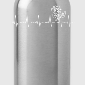 Attractive rose - my heartbeat is you - Water Bottle