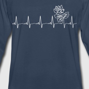 Attractive rose - my heartbeat is you - Men's Premium Long Sleeve T-Shirt