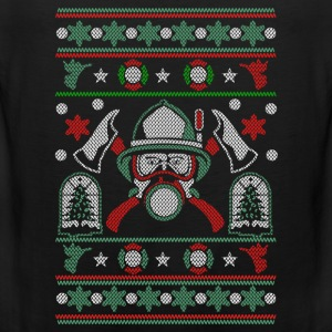Christmas ugly sweater for Firefighter - Men's Premium Tank