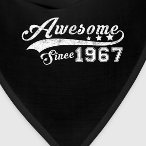 Born in 1967 - Awesome black T-shirt - Bandana