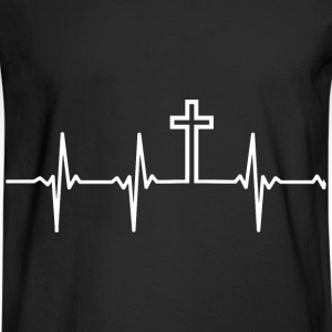 Christian - My heartbeat is the Cross - Men's Long Sleeve T-Shirt