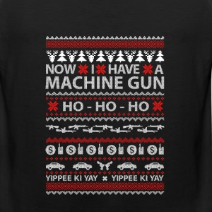 Machine gun owner - Ugly Christmas Sweater - Men's Premium Tank
